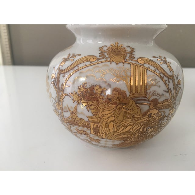 Vintage French Limoge Painted Gold Vases A Pair Chairish