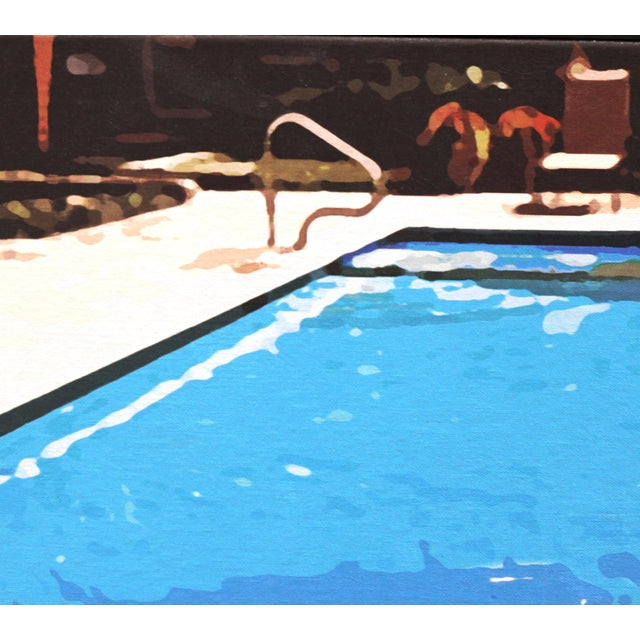 """Swimming Pool"" Acrylic Painting by Michael Giliberti - Image 6 of 10"
