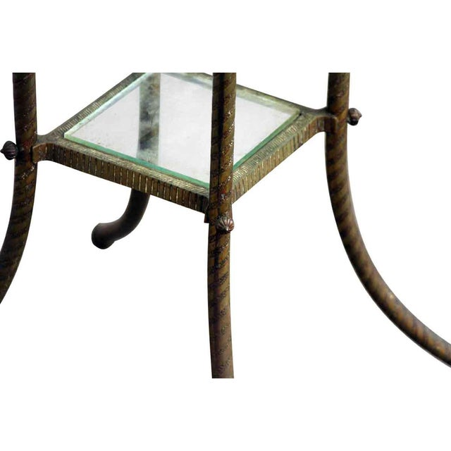 Metal 20th Century Traditional Marble Top Side Console Table With Small Glass Shelf For Sale - Image 7 of 10