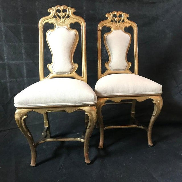 Late 19th Century Late 19th Century French Giltwood Chairs- A Pair For Sale - Image 5 of 11