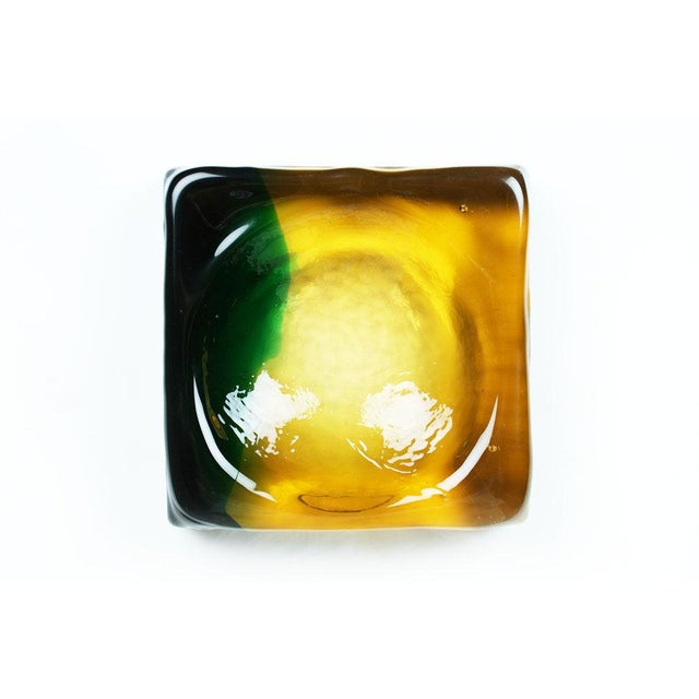 Italian Molded Murano Glass Ashtray Dish For Sale - Image 3 of 5