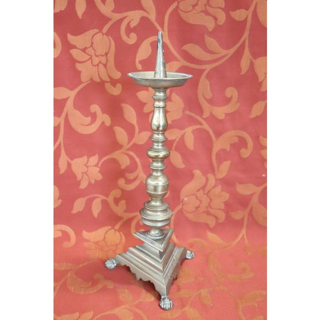 Louis XIV 17th Century, Italian, Louis XIV Candelabra in Gilded Bronze 1 Arms For Sale - Image 3 of 8