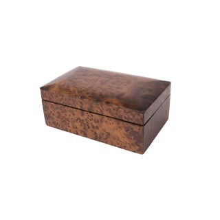 Vintage Burlwood Box For Sale