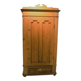 Vintage English Pine Armoire For Sale