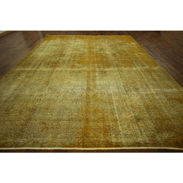 "Gold Wash Overdyed Tabriz Rug - 9' 6"" x 12' 5"" - Image 3 of 9"