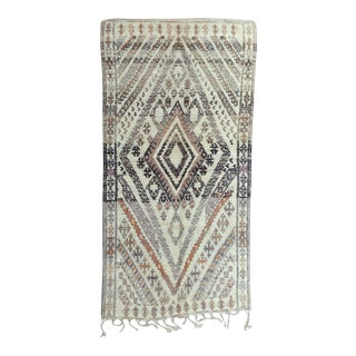 1980s Beni Ourain Rug- 5′11″ × 11′7″ For Sale