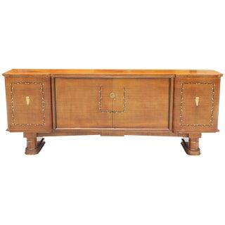 Fine French Art Deco Jules Leleu Style Rosewood M-O-P Sideboard / Buffet 1940s
