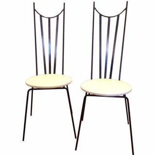 Mid-Century Iron Parlor Chairs - A Pair