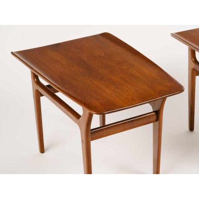 Wood Pair of Danish Modern Teak Side Tables in the Style of Poul Jensen For Sale - Image 7 of 11