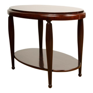 Art Deco Mahogany Side Table With Fluted Legs For Sale