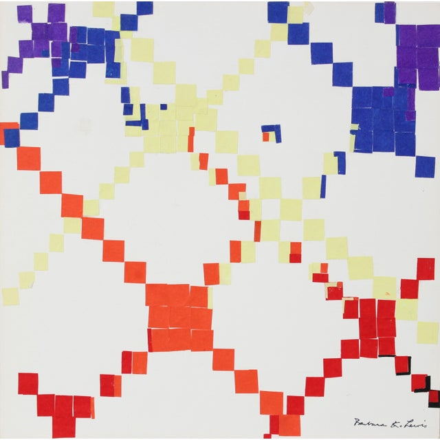 Pop Art Colorful Geometric Collage 1967 Cut Paper For Sale - Image 3 of 3