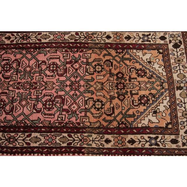 "Beige Vintage Persian Rug, 2'8"" X 9'7"" For Sale - Image 8 of 10"