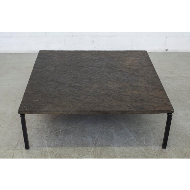 Square Stone Top Coffee Table - Image 3 of 9