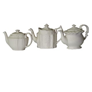 Vintage Godinger Ivory Teapots - Set of 3 For Sale