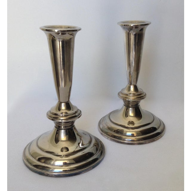 Silver Plate Gorham Candle Holders - a Pair For Sale - Image 9 of 11