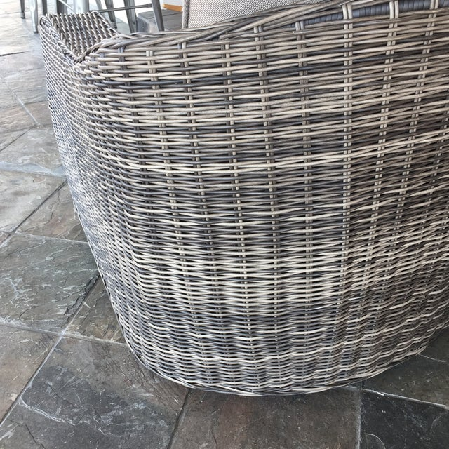Woven Outdoor Lounge Chair - Image 4 of 7