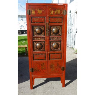 Late 19th Century Antique Fire Red Chinese Cabinet Preview