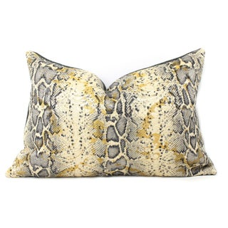 Italian Snakeskin Pillow For Sale