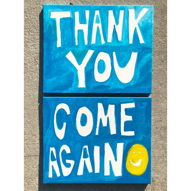 Virginia Chamlee Thank You Come Again Paintings-A Pair For Sale - Image 4 of 4