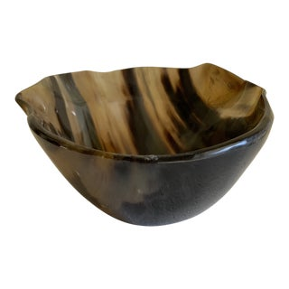 Large Sculptural Horn Decor Bowl For Sale