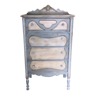 Hand Painted Blue Dresser For Sale
