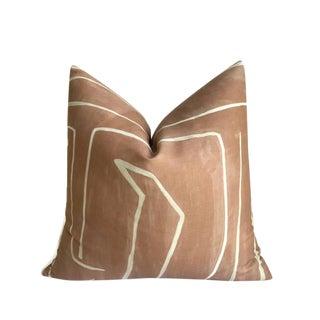 Graffito Pillow Cover in Salmon Cream For Sale