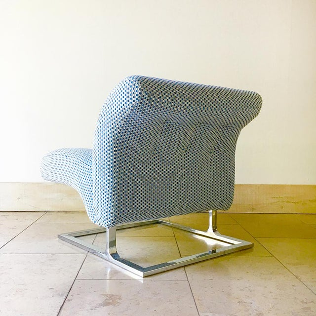 Pair of Cantilever Nickel Plated Steel Framed Lounge Chairs 1960s For Sale - Image 6 of 9