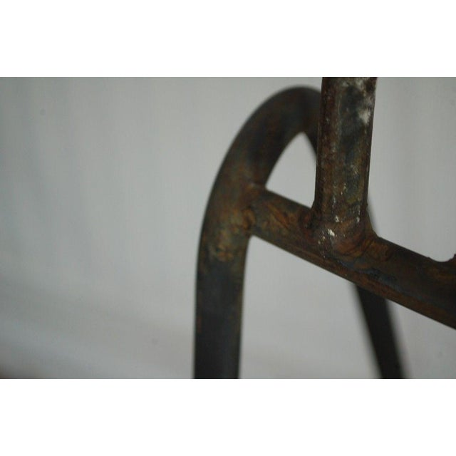 Mid Century Modern Wrought Iron Hairpin Bar Stools - A Pair - Image 10 of 11
