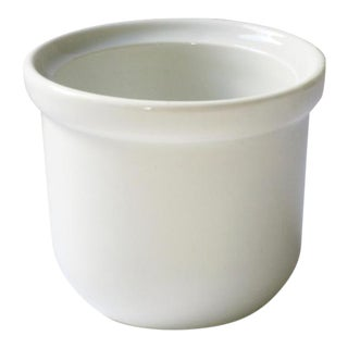 White Ironstone Crock For Sale