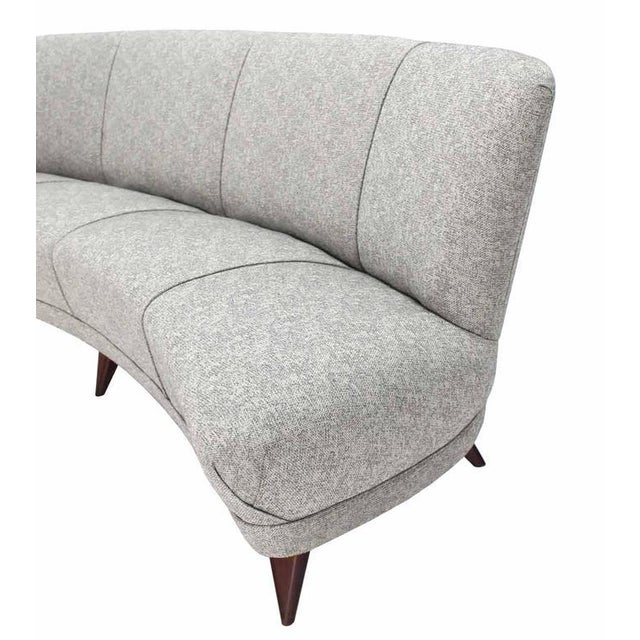 Mid-Century Modern New Upholstery Curved Cloud Sofa For Sale - Image 3 of 9