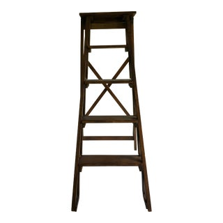 Boho Chic Global Views Architectural Folding Wood Ladder For Sale