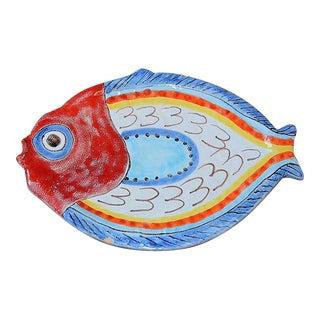 1970's De Simone Italian Terra Cotta Fish Platter For Sale