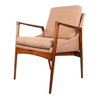 1970s Danish Modern Ib Kofod Larsen for Selig Occasional Chair For Sale