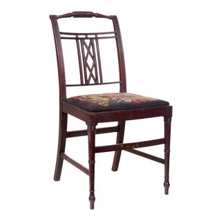 Edwardian Sheraton Style Side Chair For Sale
