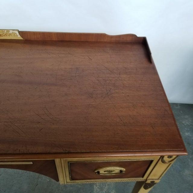 Antique Flint & Horner French Deco Writing Desk/Vanity For Sale - Image 11 of 13