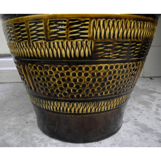 1960s Modern Large Ceramic Pottery Vessel Jar Vase From West Germany For Sale In New York - Image 6 of 10
