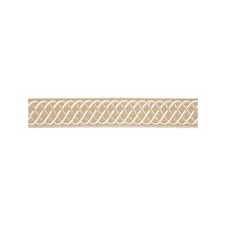 Scalamandre Helix Embroidered Tape, Linen Fabric For Sale