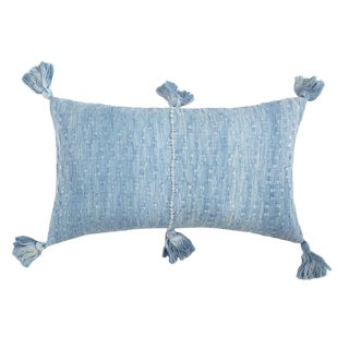 Blue Tie Dye Antigua Pillow