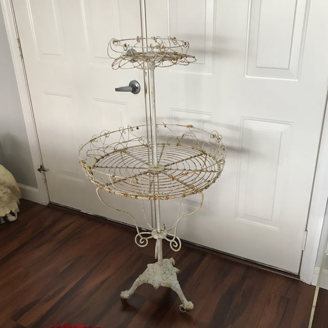 Antique French Tiered Wire Stand - Image 7 of 9