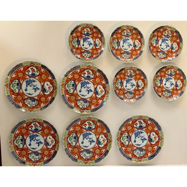 Vintage Imari Takahashi Dishes - Set of 10 For Sale - Image 10 of 10