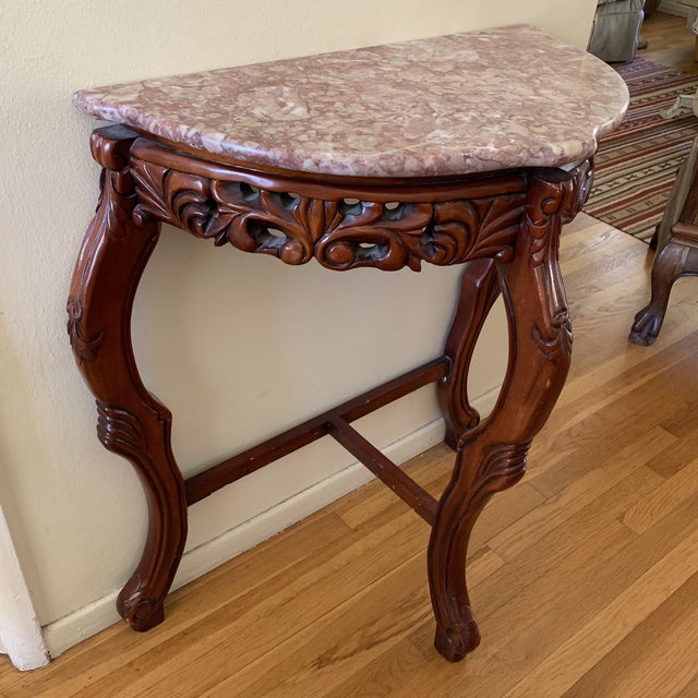Vintage Asian Marble Top Accent Table Chairish