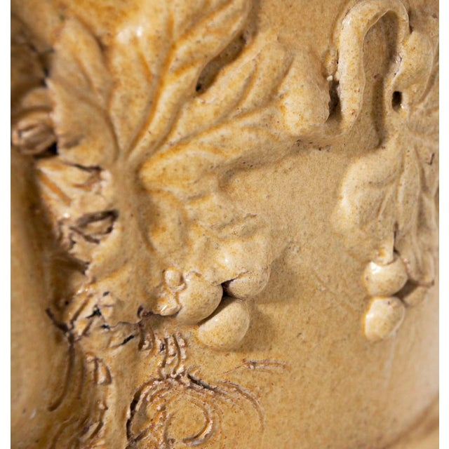 Ceramic Early 20th Century Earthenware Glazed Urn For Sale - Image 7 of 9