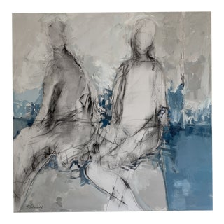 Contemporary Abstract Figurative Oil and Charcoal Painting For Sale