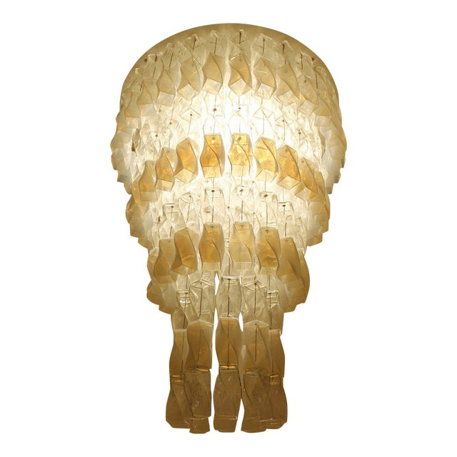 Huge Murano Chandelier by Roberto Pamio & Renato Toso for Leucos, Italy, 1970 For Sale