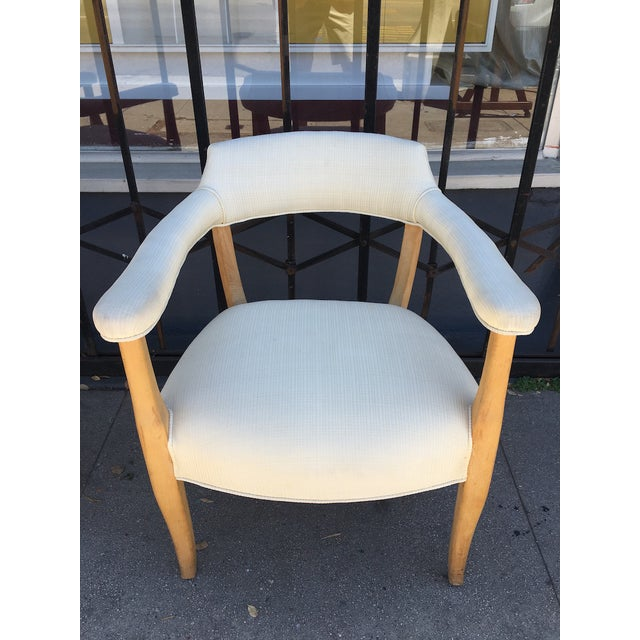 White Mid-Century Sculptural Armchairs - A Pair For Sale - Image 8 of 11