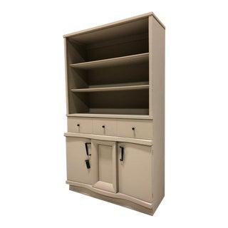 Vintage Modern Painted Highboy Cabinet