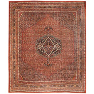 Exceptional Antique Oversize 19th Century Persian Bidjar Carpet For Sale