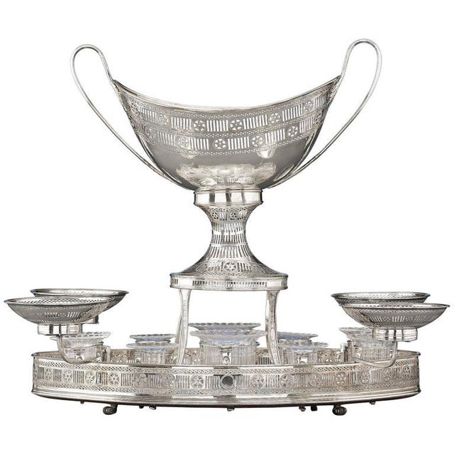Mid 18th Century Sheffield Silver Plate Rolling Dessert Stand For Sale - Image 5 of 5