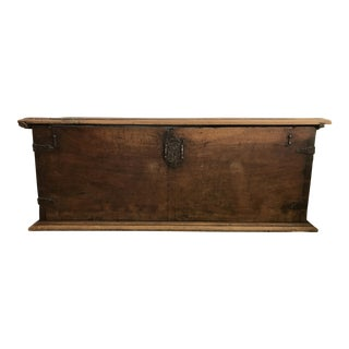 Circa Late 18th Century Walnut Coffer For Sale