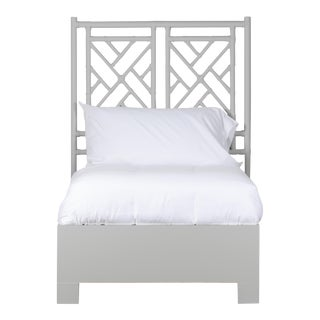 Chippendale Bed Twin - Light Gray For Sale